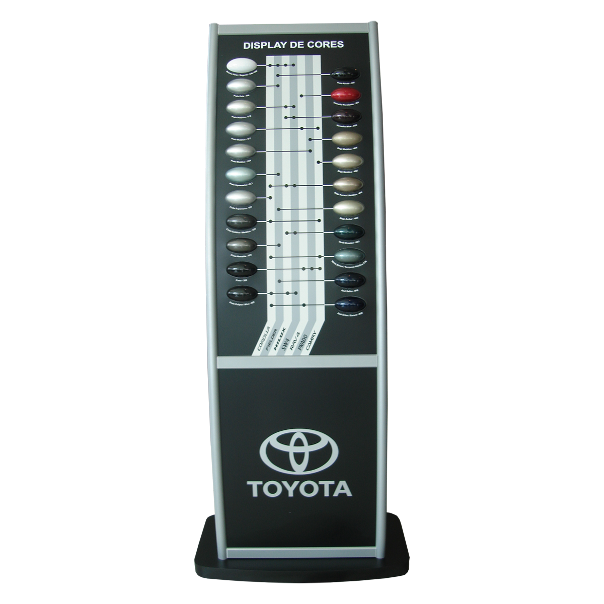 Toyota display cores conecta sistemas modulares lightbox fandeluxe Image collections